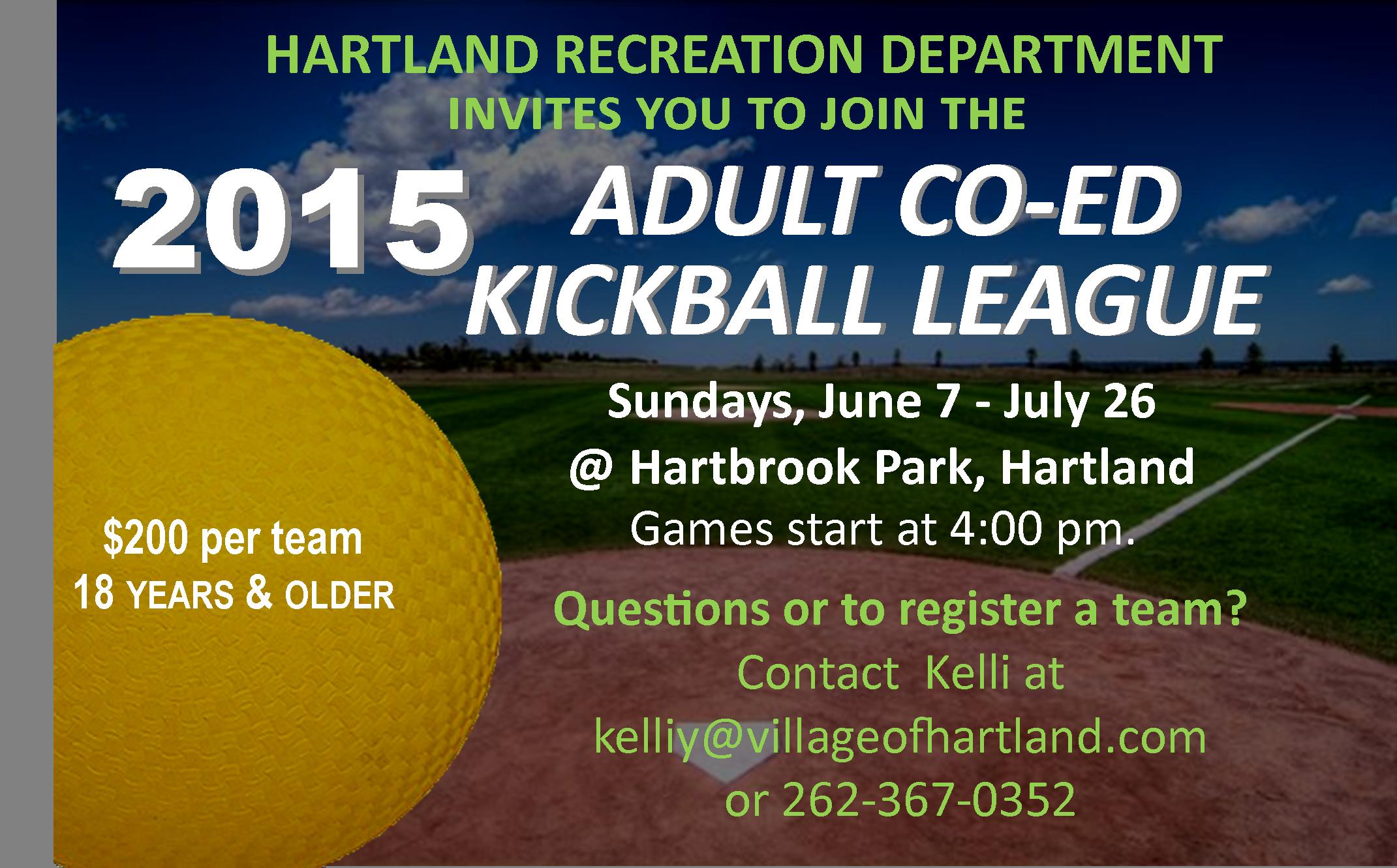 Adult Co-Ed Kickball League